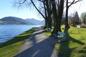 Blick von der Seepromenade in Bad Wiessee